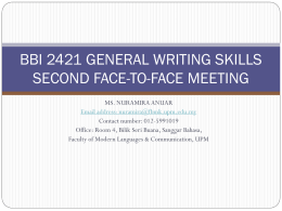 BBI 2421 GENERAL WRITING SKILLS SECOND FACE