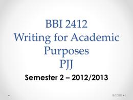 BBI 2409 English for Academic Purposes PJJ