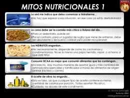 MITOS NUTRICIONALES 1