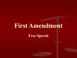 First Amendment - UW School of Law