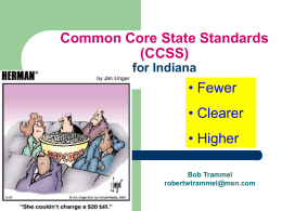 Common Core State Standards (CCSS) for Indiana