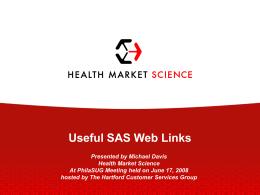 Useful SAS Web Links