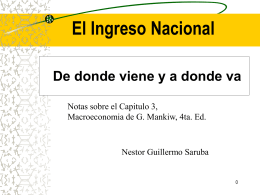 Ingreso nacional de Mankiw