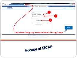 Ingreso a SICAP