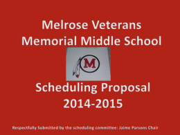 Melrose Veterans Memorial Middle School