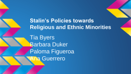 Stalin's Policies towards Religious and Ethnic Minorities
