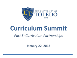 Curriculum Summit - University of Toledo