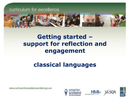 Support for reflection and engagement