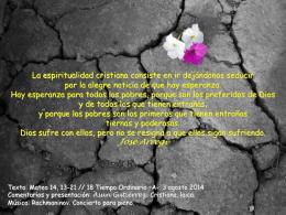 Tiempo Ordinario 18 A // 31-7-11