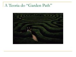 """A Teoria do """"Garden Path"""""""