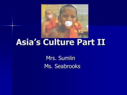 Asia's Culture Part II