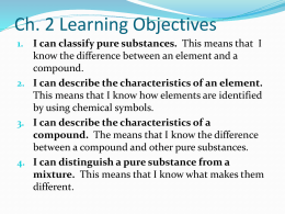 Section 2.1 Classifying Matter