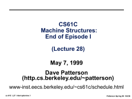 CS61C: Machine Structures