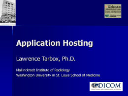 Application Hosting - Digital Imaging and …