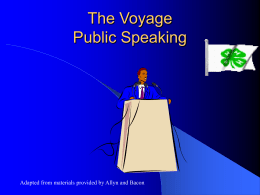 Generic Public Speaking PowerPoint slides.