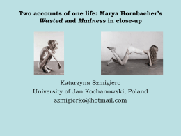 Katarzyna Szmigiero - Madness and Literature Network