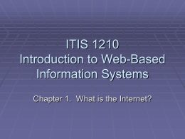 ITIS 1210 Introduction to Web