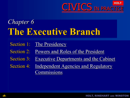 Chapter 6: The Executive Branch