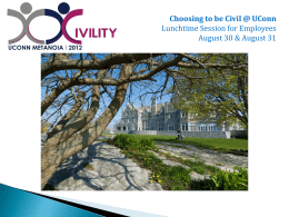 Choosing to be Civil @ UConn