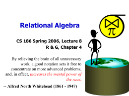 Relational Algebra - University of California, Berkeley