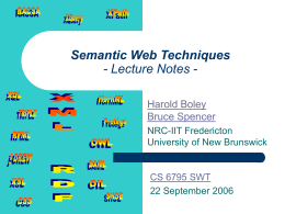 Semantic Web Techniques