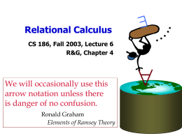 Relational Calculus - University of California, Berkeley