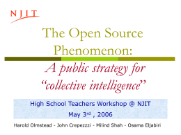 "Open Source: a strategy for public ""collective intelligence"""