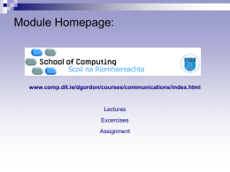 Communication Skills - DIT School of Computing