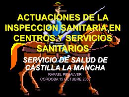ACTUACIONES DE LA INSPECCION SANITARIA EN …