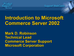 Microsoft Windows Commerce Server 2002