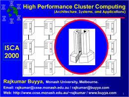Cluster Computing - POSTECH CSE DPNM (Distributed