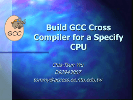 Build GCC Cross Compiler for a Specify CPU