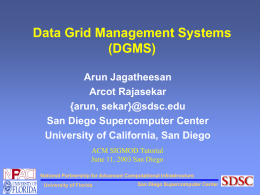 Data Grid Management Systems (DGMS)