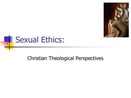 Sexual Ethics: