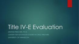Title IV-E Evaluation