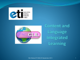 Content and Language Integrated Learning in Higher …