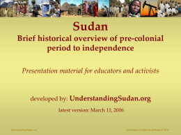 Post-Independence History of Sudan