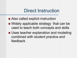 Direct Instruction - Pearson Education