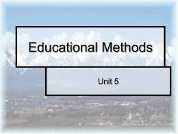 Instructional Planning - Utah State University