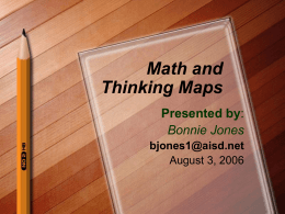 Math and Thinking Maps - Instructional Coach Corner