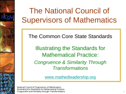 The National Council of Supervisors of Mathematics