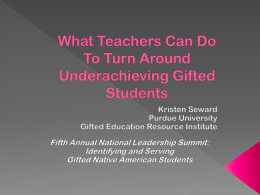 What Teachers Can Do To Turn Around Underachieving …
