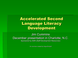 Accelerated Second Language Literacy Development