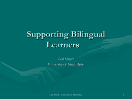 Mainstream Teachers Supporting Bilingual Learners