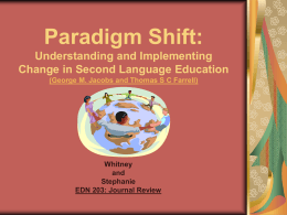 Paradigm Shift: Understanding and Implementing Change …