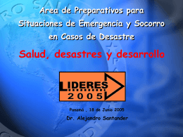 Emergency Preparedness and Disaster Relief Coordination