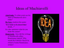 PowerPoint Presentation - Machiavelli & Castiglione