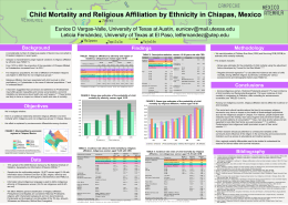 Child mortality and religious affiliation in Chiapas