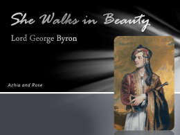 She walks in beauty - Mrs. O's Brit Lit Webpage