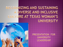 Creating and Sustaining a Diverse and Inclusive Culture at …
